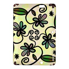 Completely Seamless Tileable Doodle Flower Art Kindle Fire HDX 8.9  Hardshell Case by Nexatart