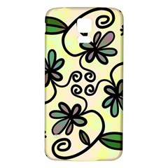 Completely Seamless Tileable Doodle Flower Art Samsung Galaxy S5 Back Case (white)