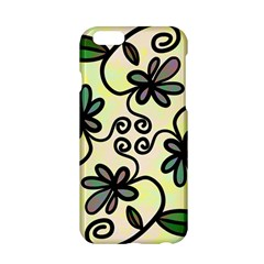 Completely Seamless Tileable Doodle Flower Art Apple Iphone 6/6s Hardshell Case by Nexatart