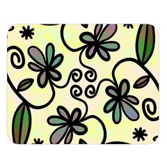 Completely Seamless Tileable Doodle Flower Art Double Sided Flano Blanket (large)