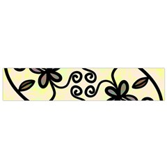 Completely Seamless Tileable Doodle Flower Art Flano Scarf (small)