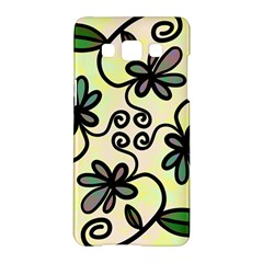 Completely Seamless Tileable Doodle Flower Art Samsung Galaxy A5 Hardshell Case