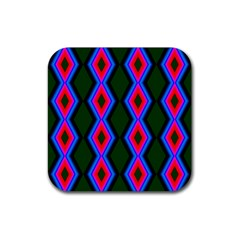 Quadrate Repetition Abstract Pattern Rubber Square Coaster (4 Pack)  by Nexatart