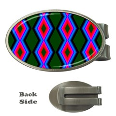 Quadrate Repetition Abstract Pattern Money Clips (oval)