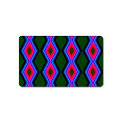 Quadrate Repetition Abstract Pattern Magnet (name Card)