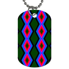 Quadrate Repetition Abstract Pattern Dog Tag (two Sides) by Nexatart