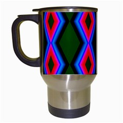Quadrate Repetition Abstract Pattern Travel Mugs (white) by Nexatart