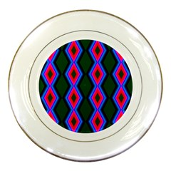 Quadrate Repetition Abstract Pattern Porcelain Plates by Nexatart
