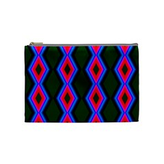 Quadrate Repetition Abstract Pattern Cosmetic Bag (medium)