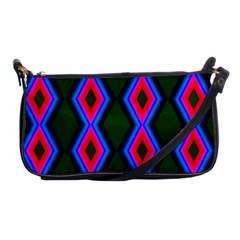 Quadrate Repetition Abstract Pattern Shoulder Clutch Bags by Nexatart