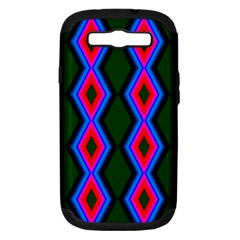 Quadrate Repetition Abstract Pattern Samsung Galaxy S Iii Hardshell Case (pc+silicone)