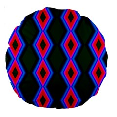 Quadrate Repetition Abstract Pattern Large 18  Premium Round Cushions