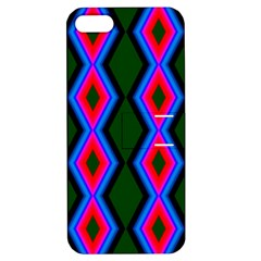 Quadrate Repetition Abstract Pattern Apple Iphone 5 Hardshell Case With Stand