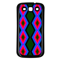 Quadrate Repetition Abstract Pattern Samsung Galaxy S3 Back Case (black)