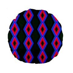 Quadrate Repetition Abstract Pattern Standard 15  Premium Flano Round Cushions