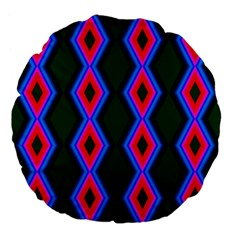 Quadrate Repetition Abstract Pattern Large 18  Premium Flano Round Cushions