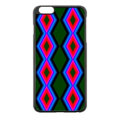 Quadrate Repetition Abstract Pattern Apple Iphone 6 Plus/6s Plus Black Enamel Case