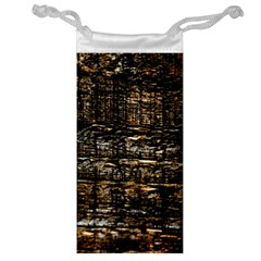Wood Texture Dark Background Pattern Jewelry Bag by Nexatart