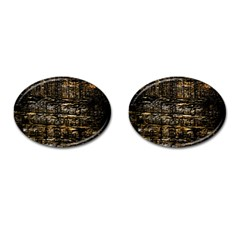 Wood Texture Dark Background Pattern Cufflinks (oval) by Nexatart