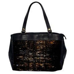 Wood Texture Dark Background Pattern Office Handbags