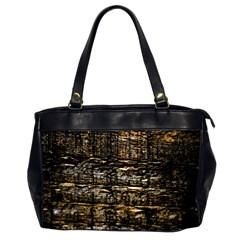 Wood Texture Dark Background Pattern Office Handbags (2 Sides)  by Nexatart