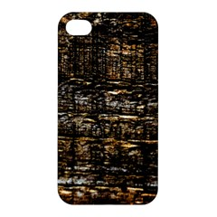 Wood Texture Dark Background Pattern Apple Iphone 4/4s Hardshell Case by Nexatart