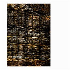 Wood Texture Dark Background Pattern Small Garden Flag (two Sides) by Nexatart