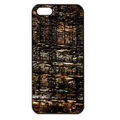 Wood Texture Dark Background Pattern Apple Iphone 5 Seamless Case (black)