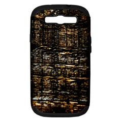 Wood Texture Dark Background Pattern Samsung Galaxy S Iii Hardshell Case (pc+silicone) by Nexatart
