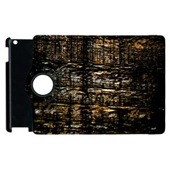 Wood Texture Dark Background Pattern Apple Ipad 2 Flip 360 Case by Nexatart