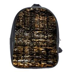 Wood Texture Dark Background Pattern School Bags (xl)  by Nexatart