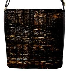 Wood Texture Dark Background Pattern Flap Messenger Bag (s) by Nexatart