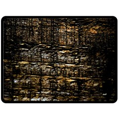 Wood Texture Dark Background Pattern Double Sided Fleece Blanket (large)  by Nexatart