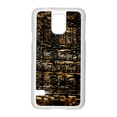 Wood Texture Dark Background Pattern Samsung Galaxy S5 Case (white)