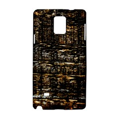 Wood Texture Dark Background Pattern Samsung Galaxy Note 4 Hardshell Case by Nexatart