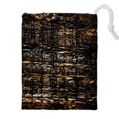 Wood Texture Dark Background Pattern Drawstring Pouches (xxl)