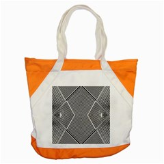 Black And White Line Abstract Accent Tote Bag by Nexatart