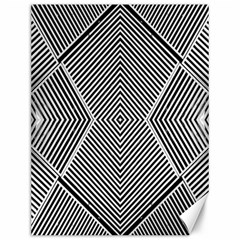 Black And White Line Abstract Canvas 12  X 16   by Nexatart