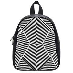 Black And White Line Abstract School Bags (Small)