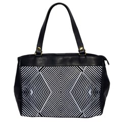 Black And White Line Abstract Office Handbags by Nexatart