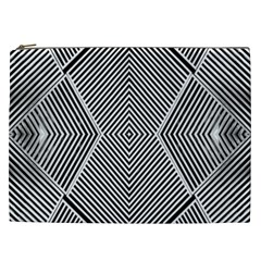 Black And White Line Abstract Cosmetic Bag (xxl)  by Nexatart