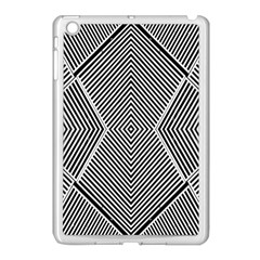 Black And White Line Abstract Apple Ipad Mini Case (white)