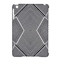Black And White Line Abstract Apple Ipad Mini Hardshell Case (compatible With Smart Cover) by Nexatart