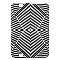 Black And White Line Abstract Kindle Fire Hd 8 9  by Nexatart
