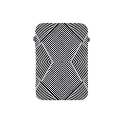 Black And White Line Abstract Apple Ipad Mini Protective Soft Cases by Nexatart