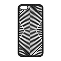 Black And White Line Abstract Apple Iphone 5c Seamless Case (black) by Nexatart