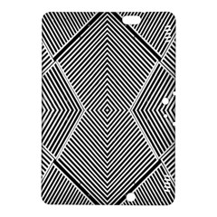 Black And White Line Abstract Kindle Fire Hdx 8 9  Hardshell Case by Nexatart