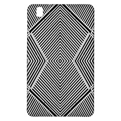 Black And White Line Abstract Samsung Galaxy Tab Pro 8 4 Hardshell Case by Nexatart
