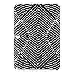 Black And White Line Abstract Samsung Galaxy Tab Pro 12 2 Hardshell Case by Nexatart