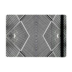 Black And White Line Abstract Ipad Mini 2 Flip Cases by Nexatart